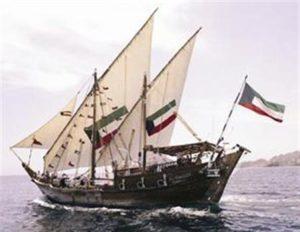 طبعات السفن الكويتية في البحر
