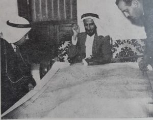 الصرعاوي مع الحاكم الشيخ شخبوط بن سلطان في قصره