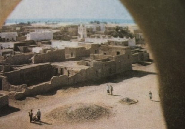 إحدى قرى المهرة وبيوتها وساحاتها قديما ( عدن الغد )