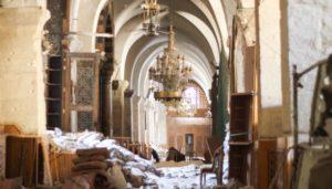 المكتبة الوقفية في حلب تحت الدمار