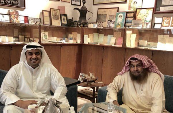 د محمد الشيباني في زيارة ودية للباحث الشاب فهد العبدالجليل