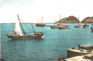 سفن كويتية شراعية في أحد الموانيء