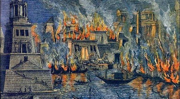 حريق مكتبة الأسكندرية