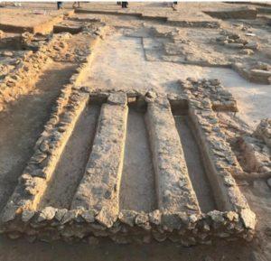 مدبسة تمور كشف عنها في موقع القصور ( العصر الإسلامي ) في وسط جزيرة فيلكة