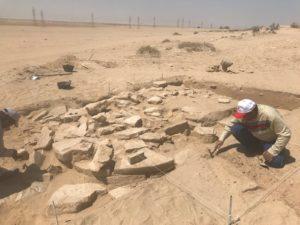 أحد المواقع الأثرية لحقب قديمة في الكويت