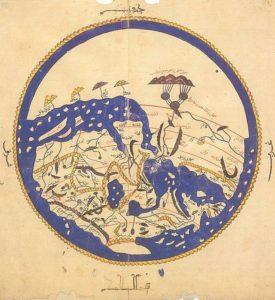 خريطة العالم المعروف قبل ألف سنة بدقة لا بأس بها من رسم عالم مسلم
