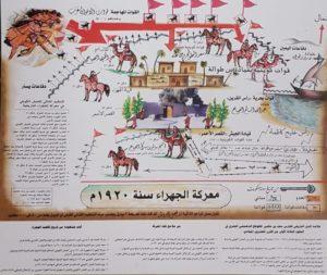 خارطة حرب الجهراء للمقدم المتقاعد ىحجب بن نزال الحجب