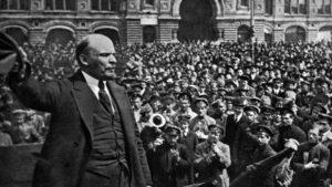 لينيين زعيم الثورة البلشفية الروسية