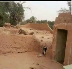 بقايا اطلال مساكن حوطة بني تميم