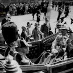 الملك جورج الخامس في استقبال الملك فيصل الأول في بريطانية