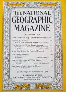 ناشيونال جيوغرافيك عدد 1958م