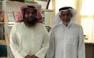 د .جسين النجدي يمينا بزيارة د . محمد الشيباني يسارا .