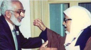 الباحث السعودي حمد الجاسر والعلامة محمود شاكر