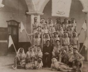 فريق الكشافة في المدرسة الأحمدية عام 1952م