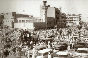 مظاهرات شعبية في الكويت منددة بتهديدات عبدالكريم قاسم ضد الكويت