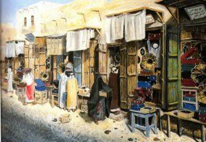 لوحة الاسواق الكويتية القديم ( أ .ح )