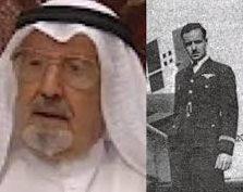 محمد البدر في زيه الرسمي كأول طيار خليجي كويتي