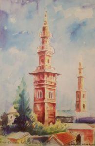 احدى لوحات طاهر البني