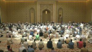 صلاة الجمعة من مسجد إبراهيم الخليل في قطر