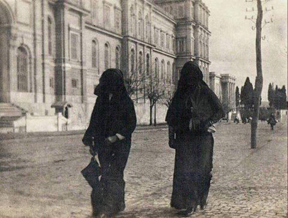 اللبس المحتشم الشرعي في شوارع تركية الدولة العثمانية