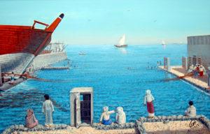 لوحة البحر لأيوب حسين