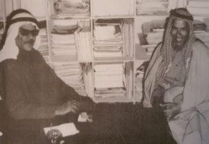 المؤرخ عبدالله الحاتم بمعية الشاعر منصور الخرقاوي