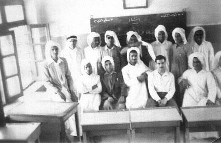 طلبة المعهد الديني في الكويت عام 1956 م