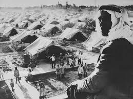 المخيمات الفلسطينية بعد تشريد الأهالى واحتلال القدس