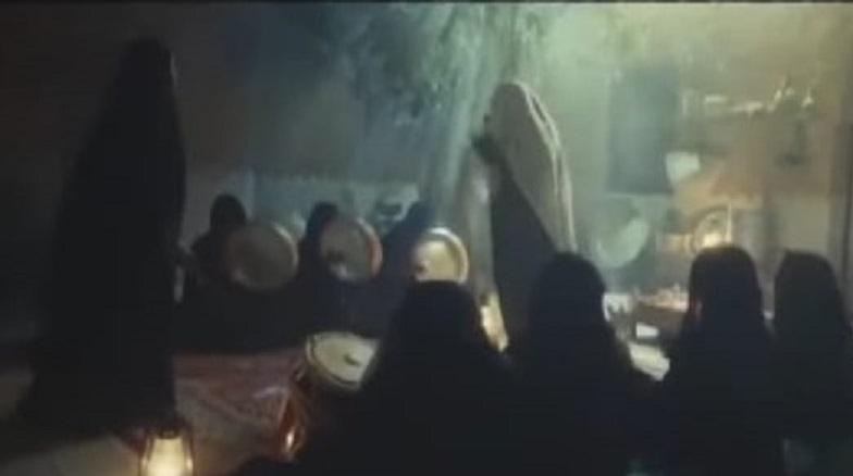 مشهد تلفزيوني لحفلة زار في الكويت قديما