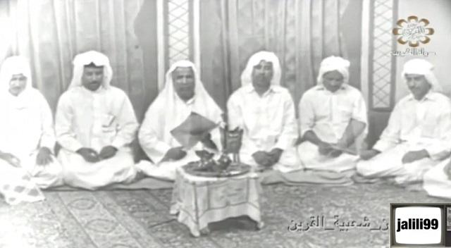 مشهد تلفزيوني يمثل الاحتفال بالمالد ( المولد ) في الكويت قديما