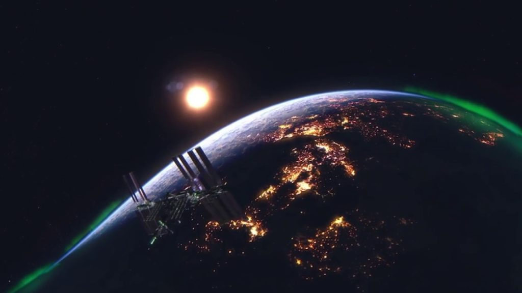 كوكب الأرض كما يبدو من الفضاء الخارجي