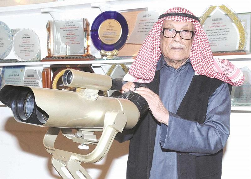 د . صالح العجيري في المرصد الفلكي