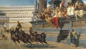 سباق الخيول في حلبة رومانية