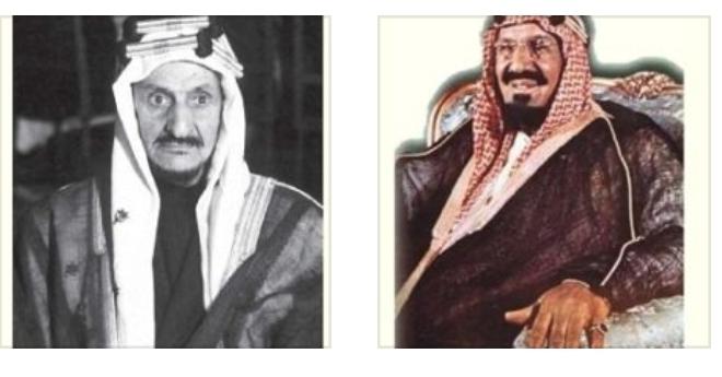 الملك عبدالعزيز بن سعود - فوزان بن سابق - يرحمهما الله