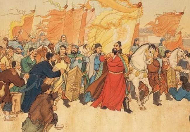موكب أحد أباطرة الصين وحاشيته