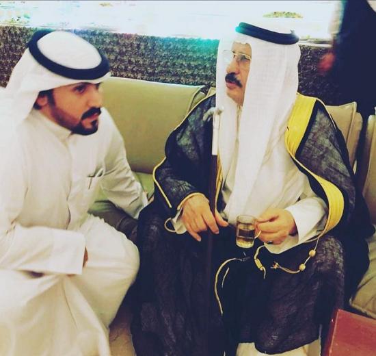 سعود الجمران مع حفيده د عبدالله خالد سعود الجمران