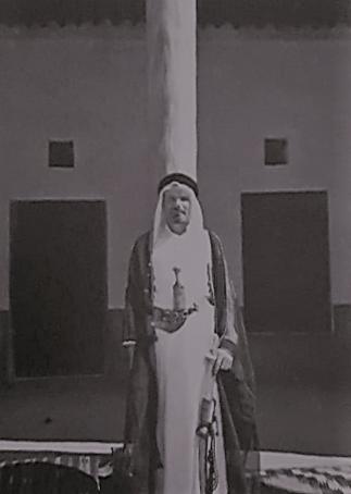 القبطان آلن فليرز في بيت الحمد