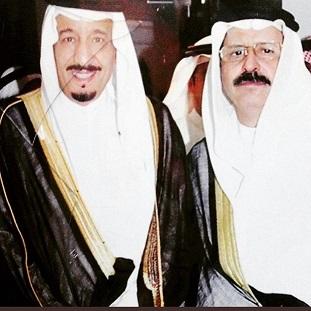 سعود الجمران مع العاهل السعودي الملك سلمان بن عبدالعزيز