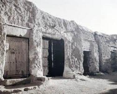 البيوت الطينية في جزيرة فيلكة الكويتية في الماضي