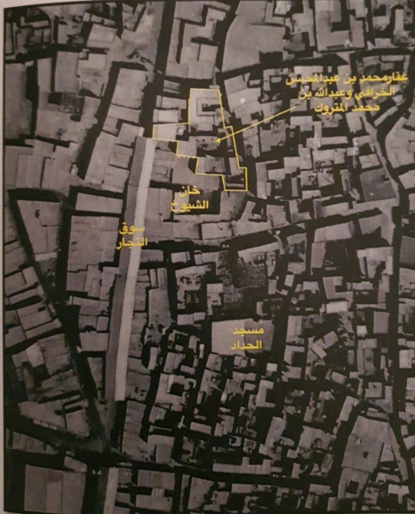 موقع عقار المتروك والخرافي كما هو موضح في الخريطة