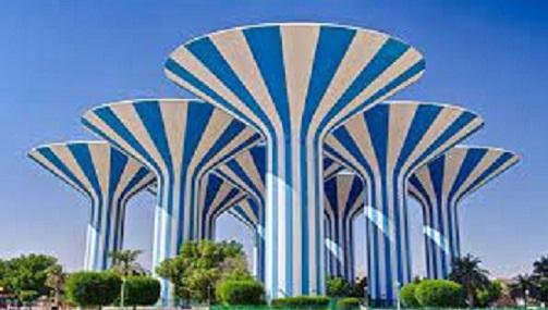 خزانات حفظ المياه في ابراج عدة في الكويت