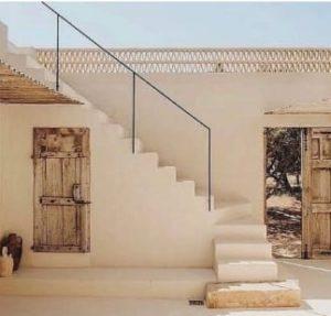 حوش المنزل القديم التراثي في القرية التراثية