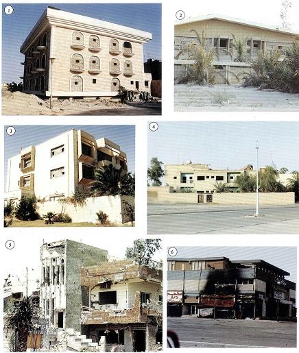 مساكن مواطنين طرد المحتل العراقي اصحابها واستغلها مراكز لقواته