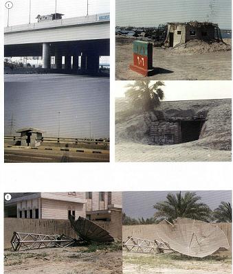 مظاهر تدمير قام بها الجيش العراقي في منطقة ضاحبة عبدالله السالم السكنية