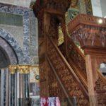 منبر صلاح الدين الأيوبي كما بدا بعد ترميمه من الحريق المتعمد للمسجد الأقصى عام 1969