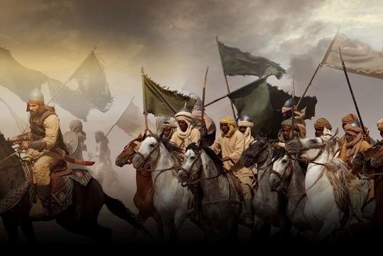 جيوش إسلامية وراياتها الخفاقة